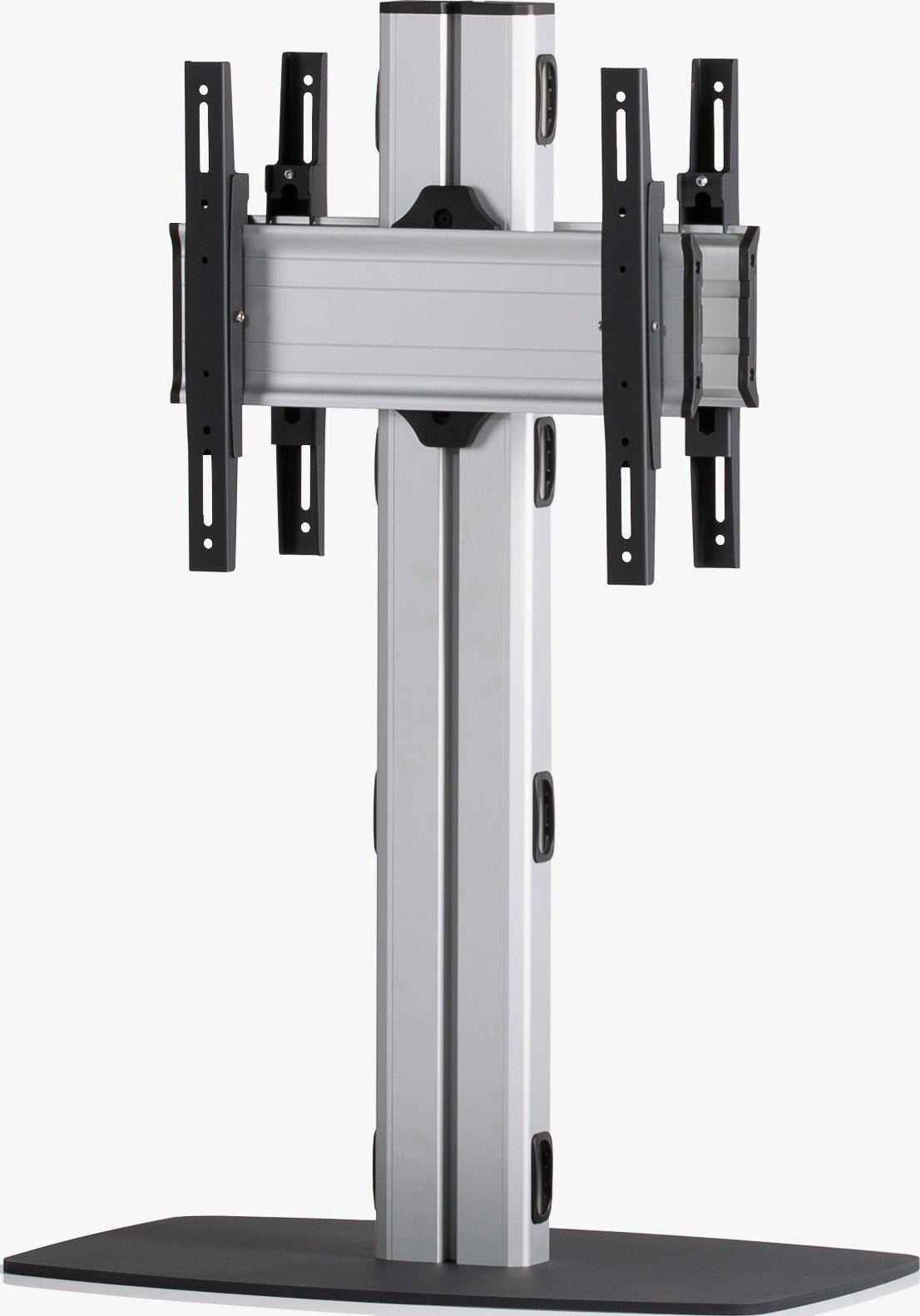 2 Displays 1×1 beidseitig, Höhe 110 cm, Standard-VESA, mit Standfuß