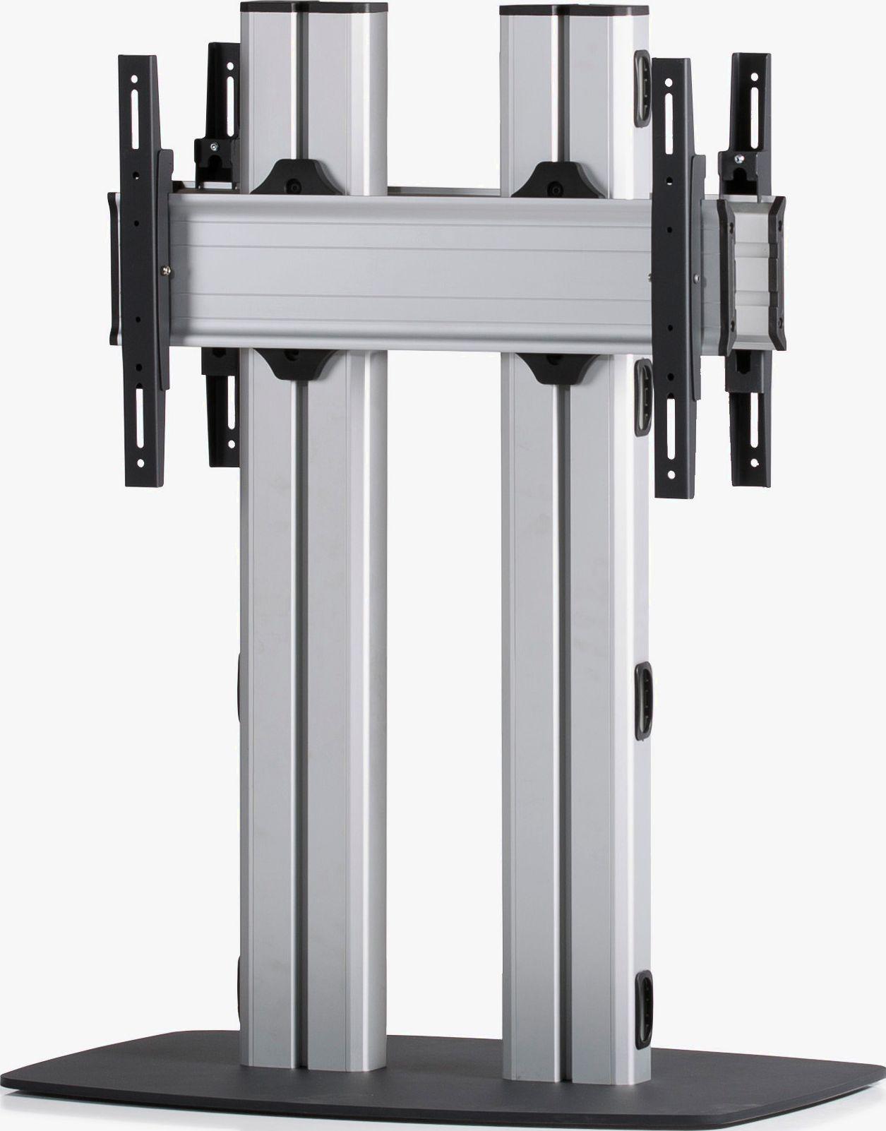 2 Displays 1×1 beidseitig, für große Bildschirme, Höhe 110 cm, Standard-VESA, mit Standfuß