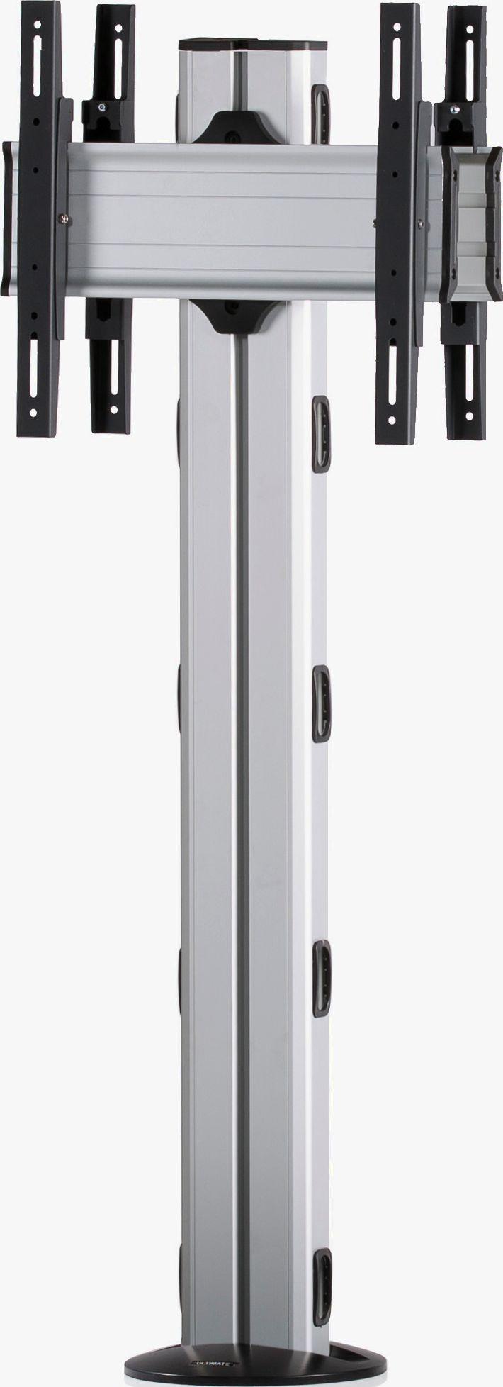 2 Displays 1×1 beidseitig, Höhe 135 cm, Standard-VESA, zur Bodenbefestigung