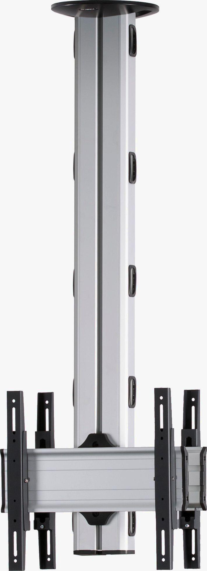 2 Displays 1×1 beidseitig, Höhe 135 cm, Standard-VESA, zur Deckenbefestigung