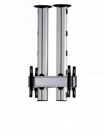 2 Displays 1×1 beidseitig, für große Bildschirme, Höhe 135 cm, Standard-VESA, zur Deckenbefestigung