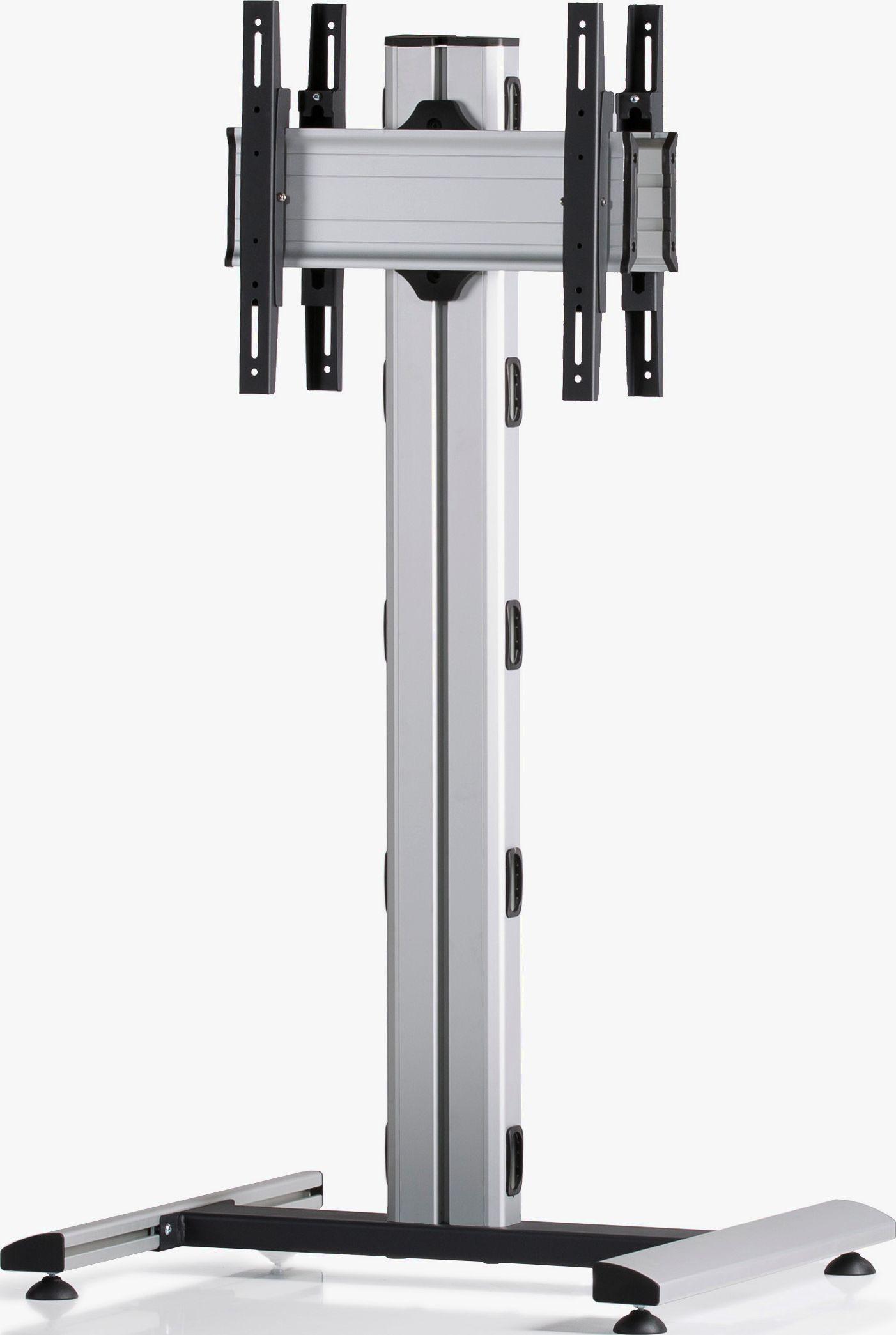 2 Displays 1×1 beidseitig, Höhe 135 cm, Standard-VESA, auf Standfuß