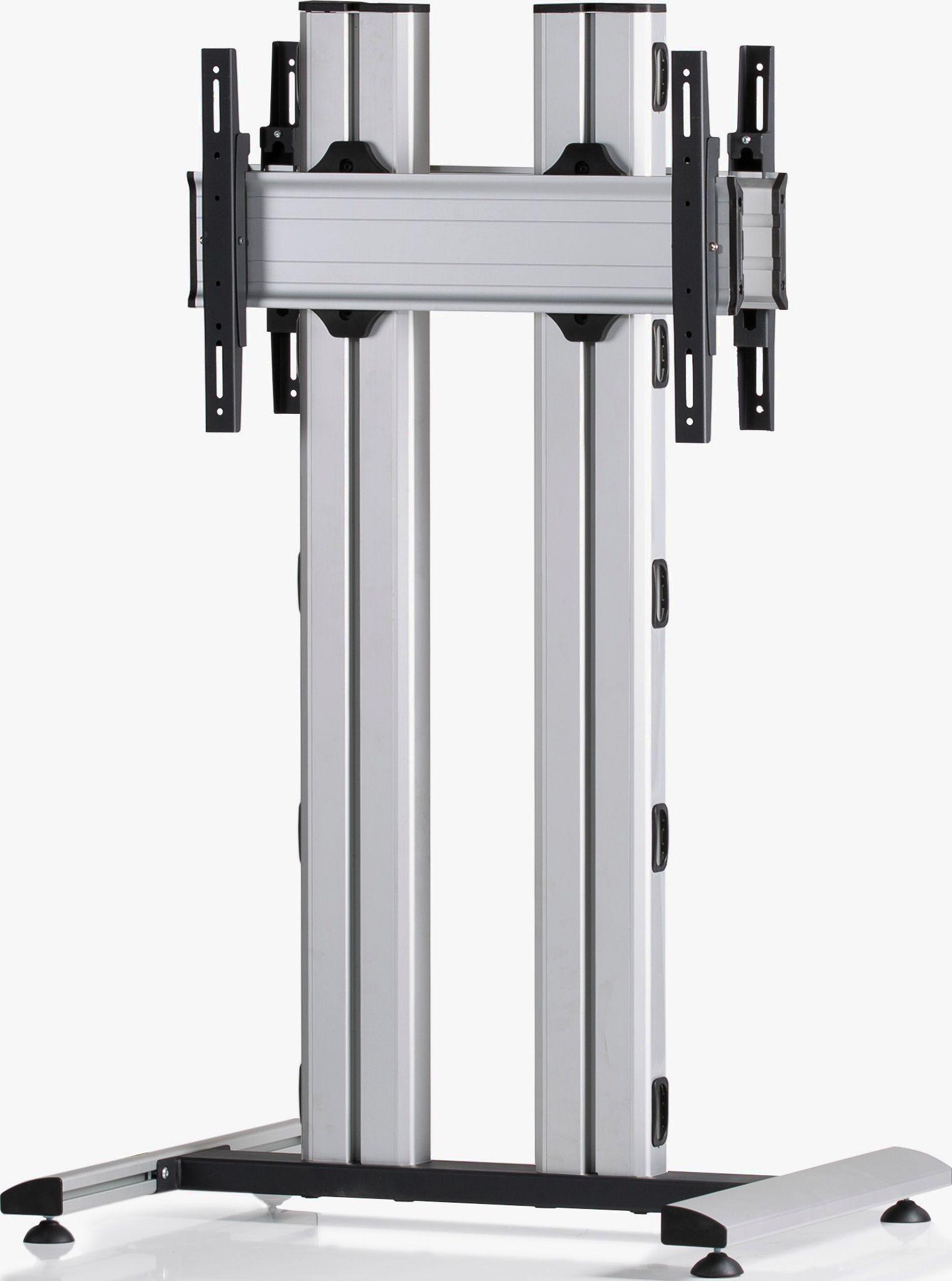 2 Displays 1×1 beidseitig, für große Bildschirme, Höhe 135 cm, Standard-VESA, auf Standfuß