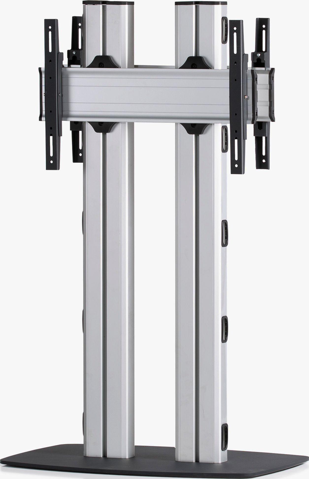 2 Displays 1×1 beidseitig, für große Bildschirme, Höhe 135 cm, Standard-VESA, mit Standfuß