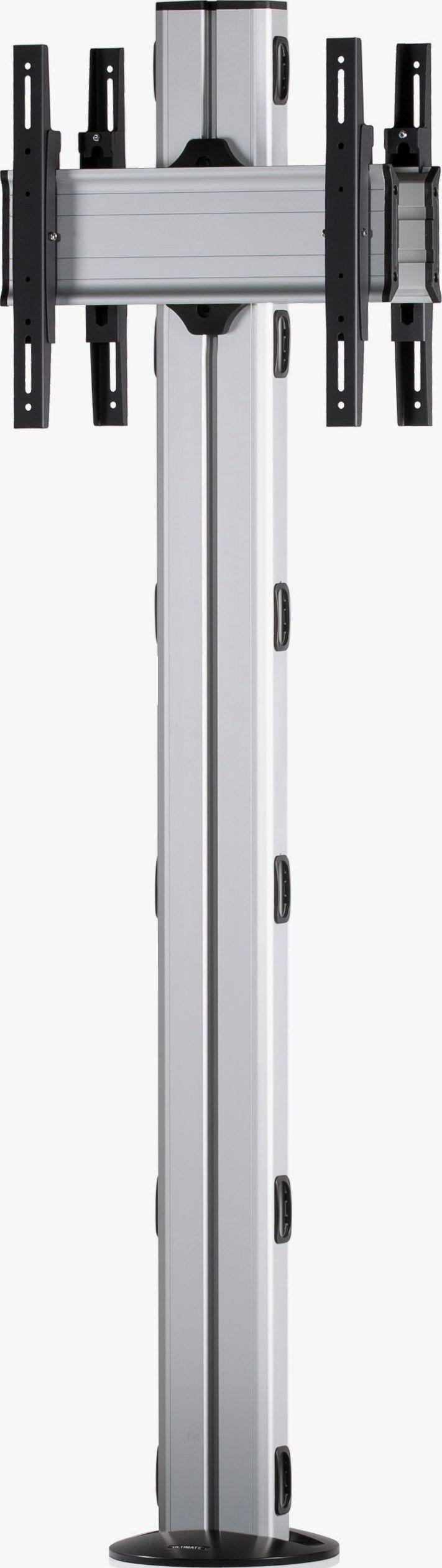 2 Displays 1×1 beidseitig, Höhe 180 cm, Standard-VESA, zur Bodenbefestigung