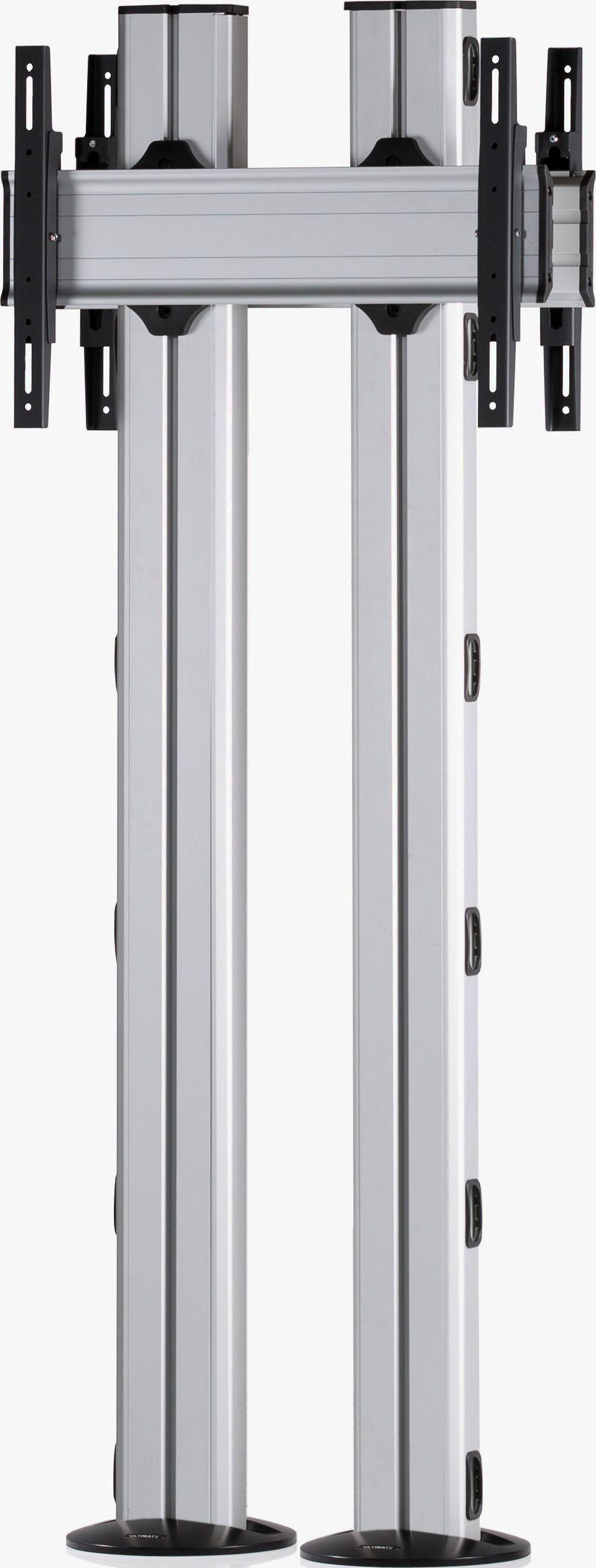 2 Displays 1×1 beidseitig, für große Bildschirme, Höhe 180 cm, Standard-VESA, zur Bodenbefestigung