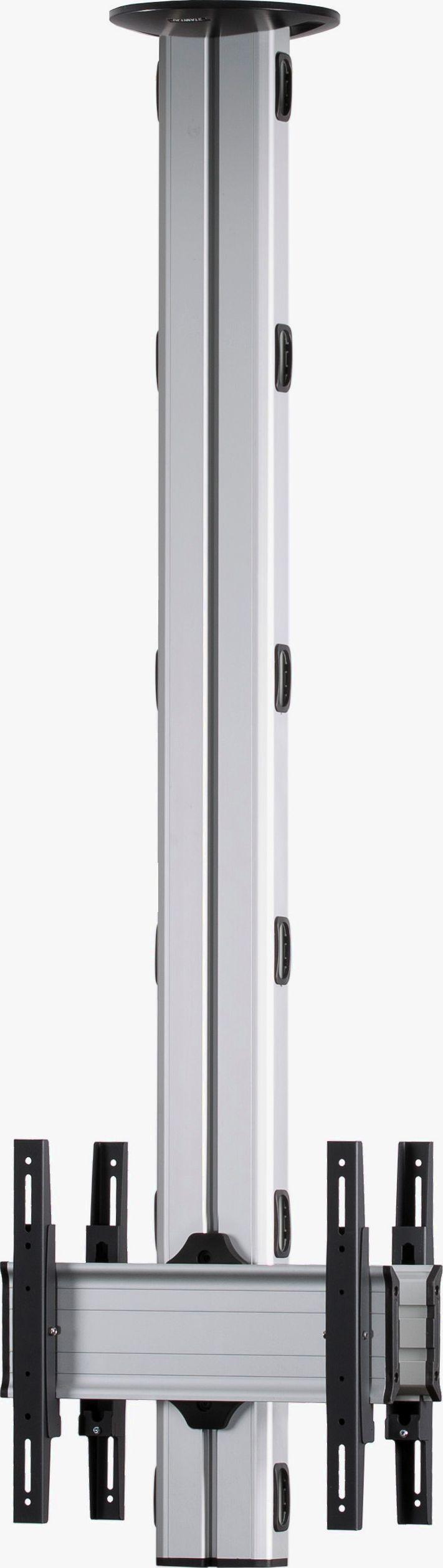 2 Displays 1x1 beidseitig, Höhe 180 cm, Standard-VESA, zur Deckenbefestigung