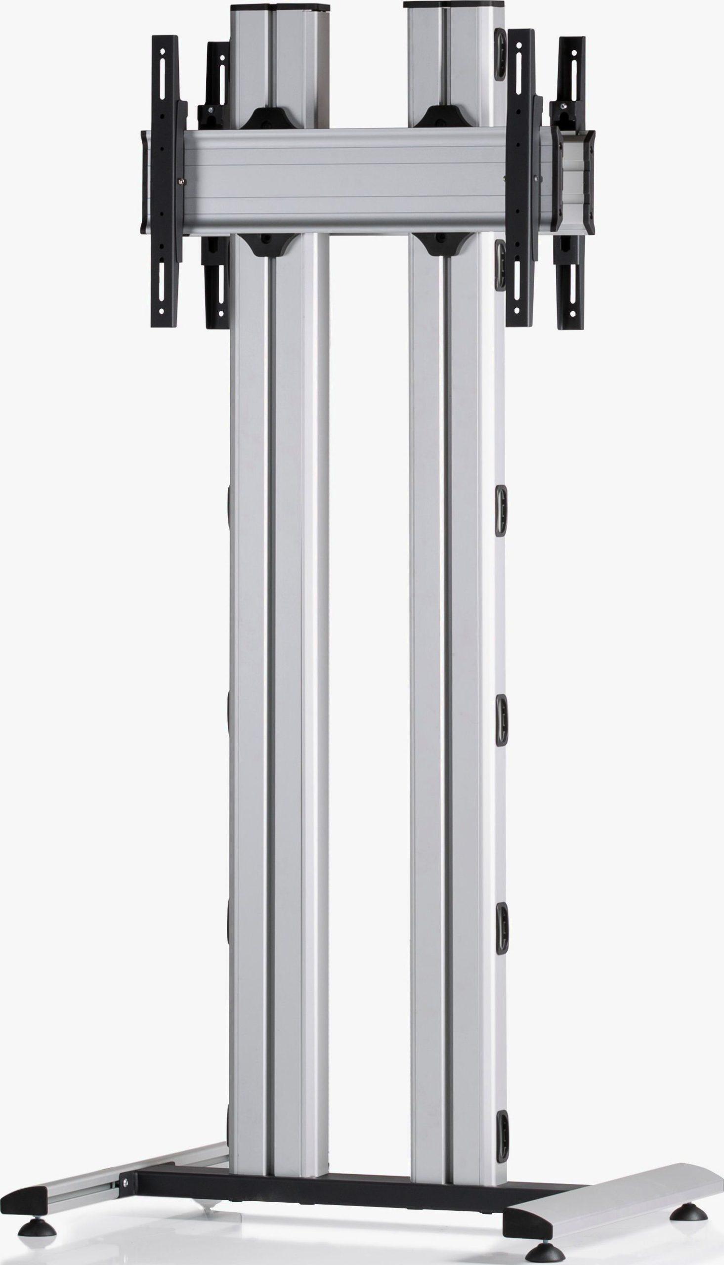 2 Displays 1×1 beidseitig, für große Bildschirme, Höhe 180 cm, Standard-VESA, auf Standfuß