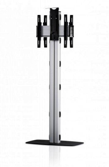 2 Displays 1x1 beidseitig, Höhe 180 cm, Standard-VESA, Kamera-Halterung, mit Standfuß
