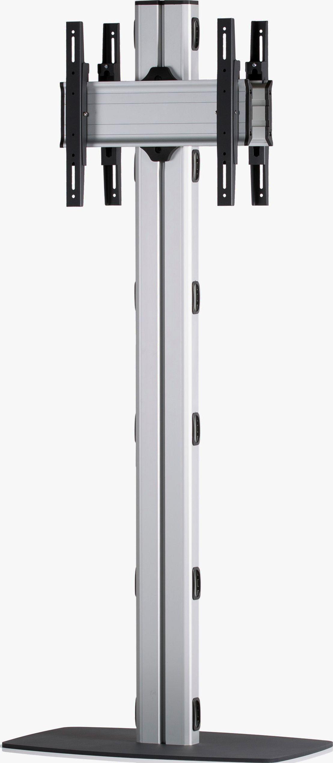 2 Displays 1x1 beidseitig, Höhe 180 cm, Standard-VESA, mit Standfuß
