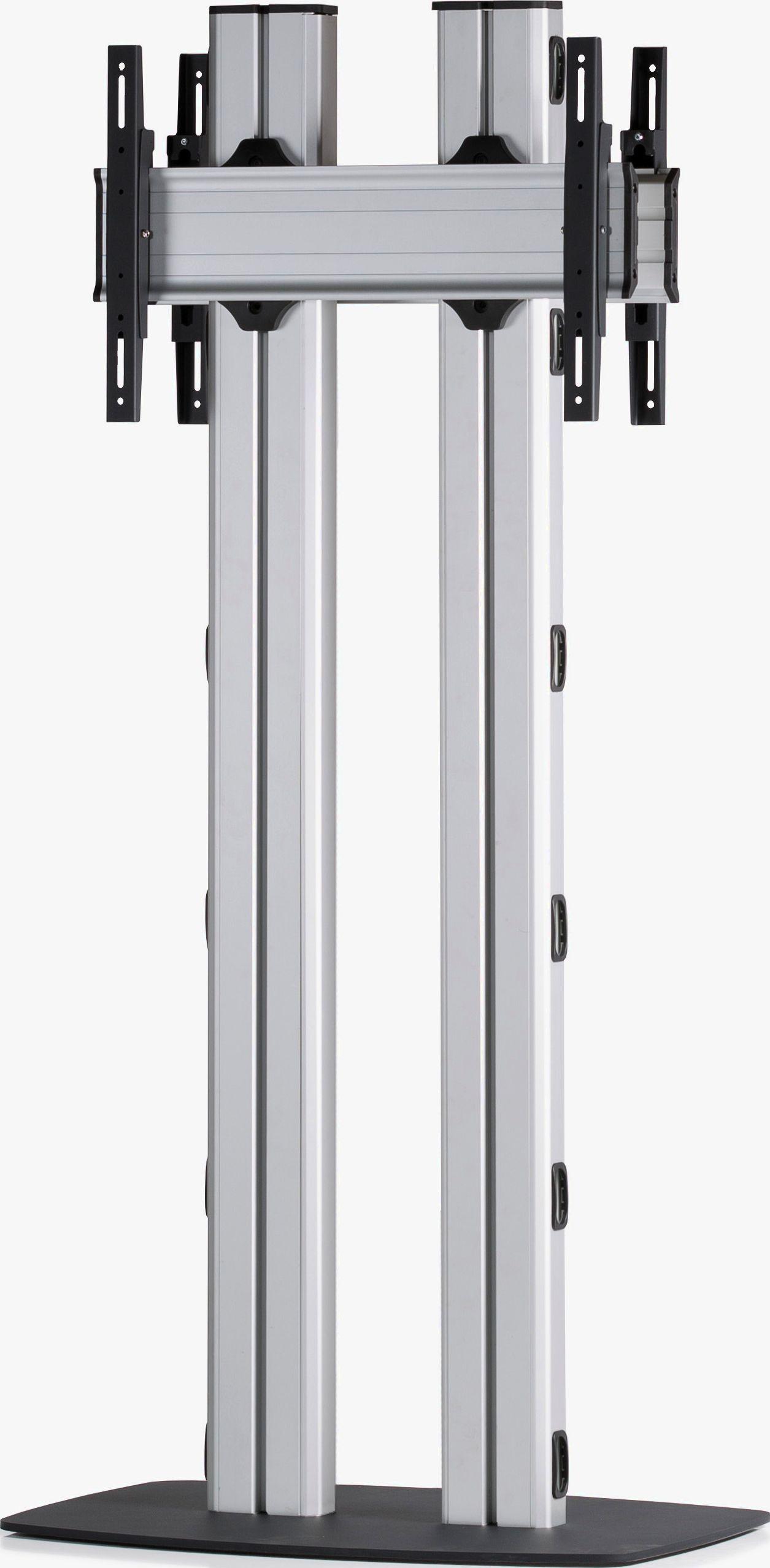 2 Displays 1×1 beidseitig, für große Bildschirme, Höhe 180 cm, Standard-VESA, mit Standfuß
