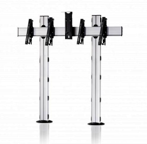 2 Displays 1×2, multifunktioneller VESA, Kamera-Halterung, zur Bodenbefestigung