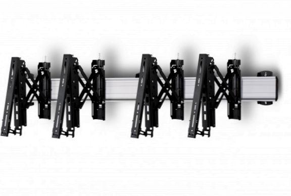 2 Displays 1×2, Teleskop-VESA, zur Wandbefestigung
