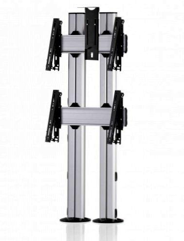 2 Displays 2×1, für große Bildschirme, multifunktioneller VESA, Kamera-Halterung, zur Bodenbefestigung