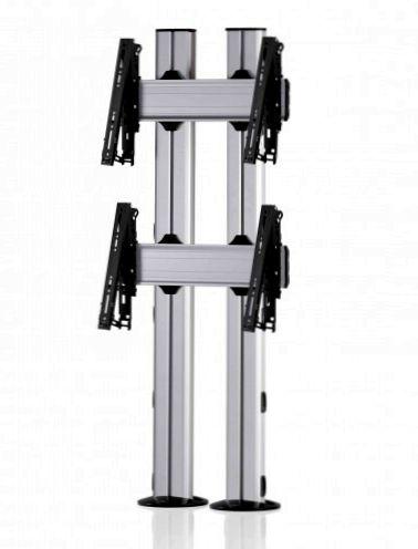 2 Displays 2×1, für große Bildschirme, multifunktioneller VESA, zur Bodenbefestigung