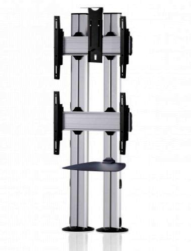 2 Displays 2×1, für große Bildschirme, Standard-VESA, Ablage, Kamera-Halterung, zur Bodenbefestigung