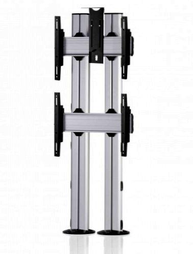 2 Displays 2×1, für große Bildschirme, Standard-VESA, Kamera-Halterung, zur Bodenbefestigung