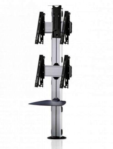 2 Displays 2×1, multifunktioneller VESA, Ablage, Kamera-Halterung, zur Bodenbefestigung
