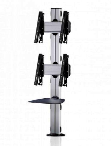 2 Displays 2×1, multifunktioneller VESA, Ablage, zur Bodenbefestigung