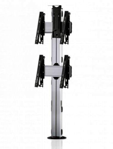 2 Displays 2×1, multifunktioneller VESA, Kamera-Halterung, zur Bodenbefestigung