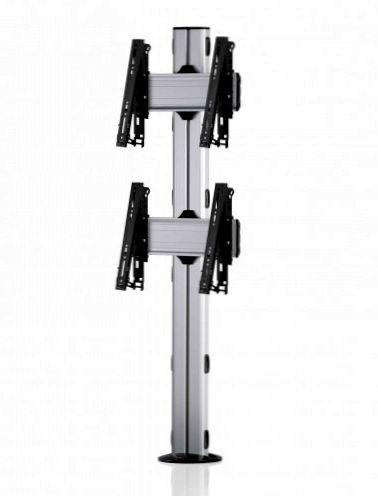2 Displays 2×1, multifunktioneller VESA, zur Bodenbefestigung