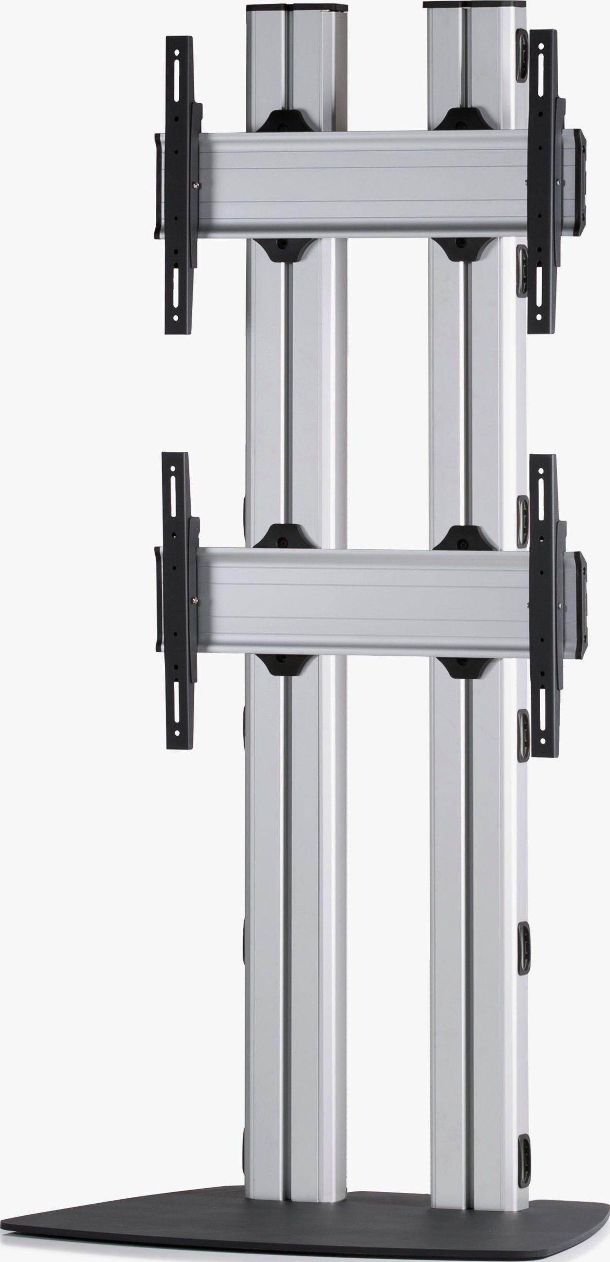 2 Displays 2x1, für große Bildschirme, Standard-VESA, mit Standfuß
