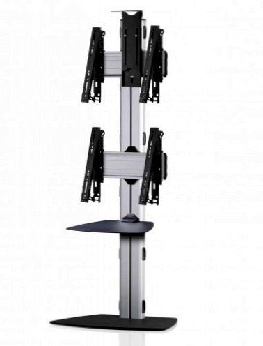 2 Displays 2x1, multifunktioneller VESA, Ablage, Kamera-Halterung, mit Standfuß