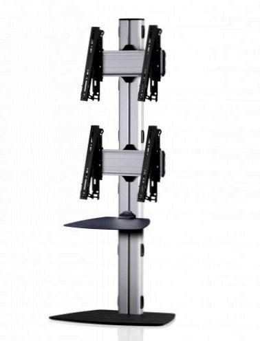 2 Displays 2x1, multifunktioneller VESA, Ablage, mit Standfuß