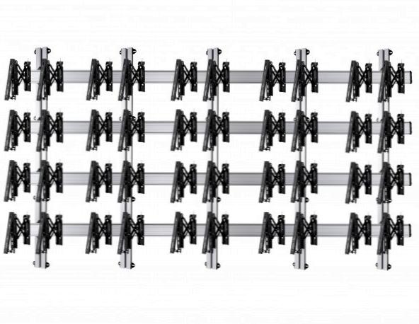 20 Displays 4×5, für große Bildschirme, Teleskop-VESA, zur Wandbefestigung