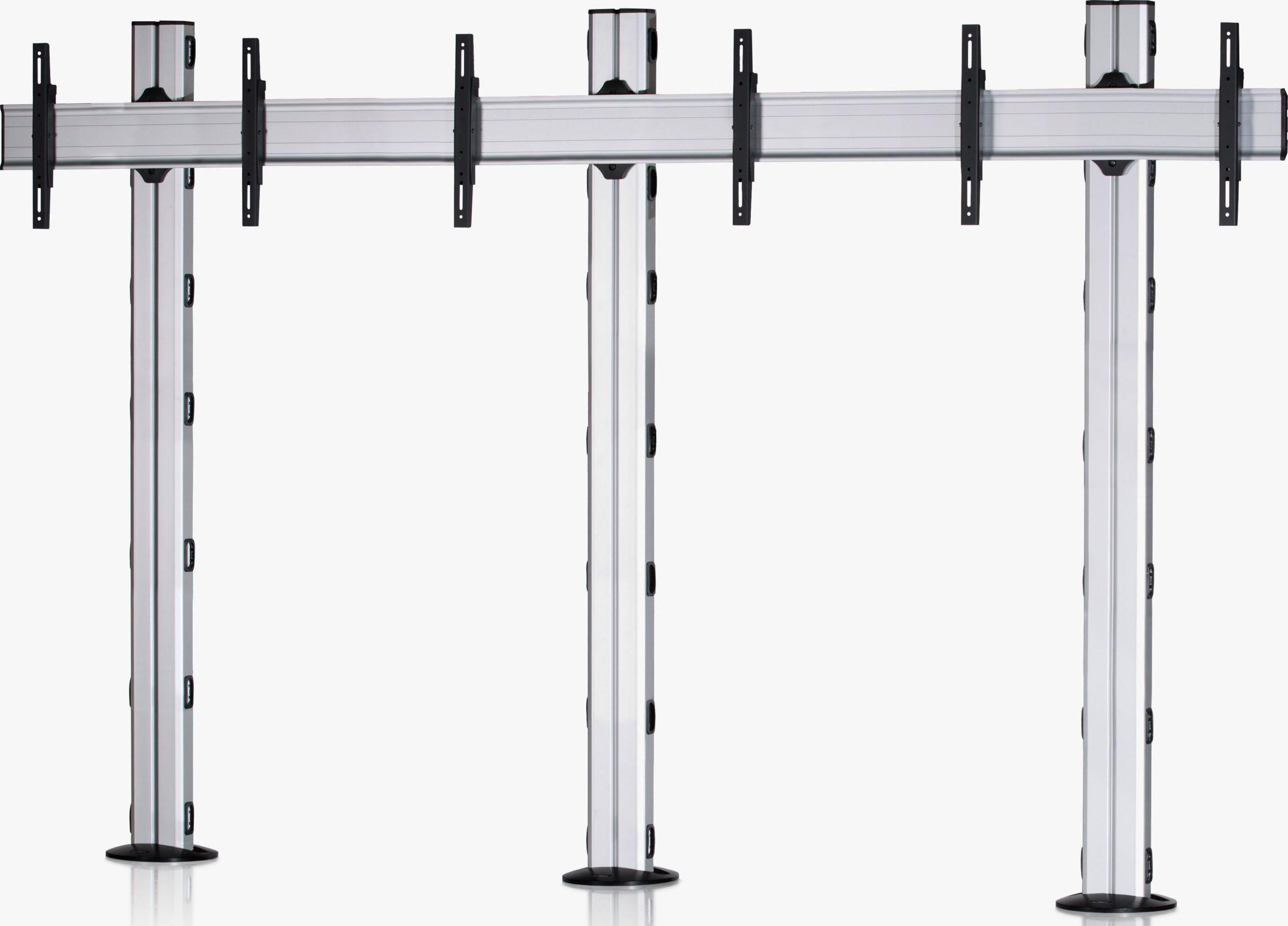 3 Displays 1×3, für große Bildschirme, Standard-VESA, zur Bodenbefestigung