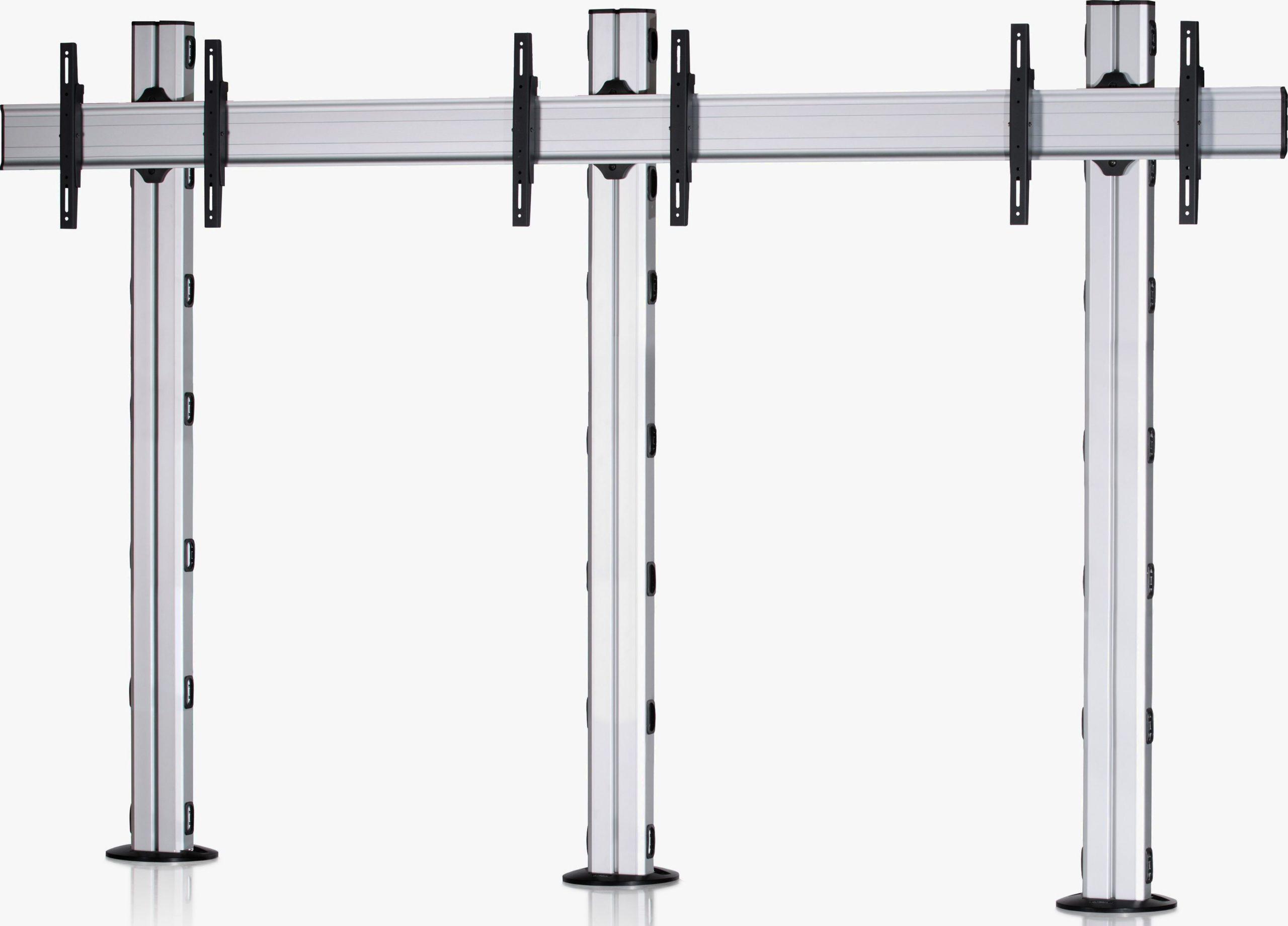 3 Displays 1×3, Standard-VESA, zur Bodenbefestigung