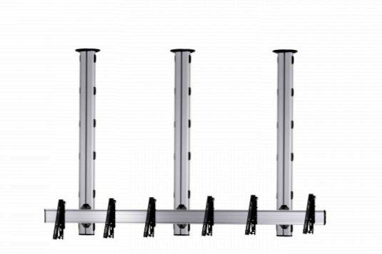 3 Displays 1×3, für große Bildschirme, multifunktioneller VESA, zur Deckenbefestigung