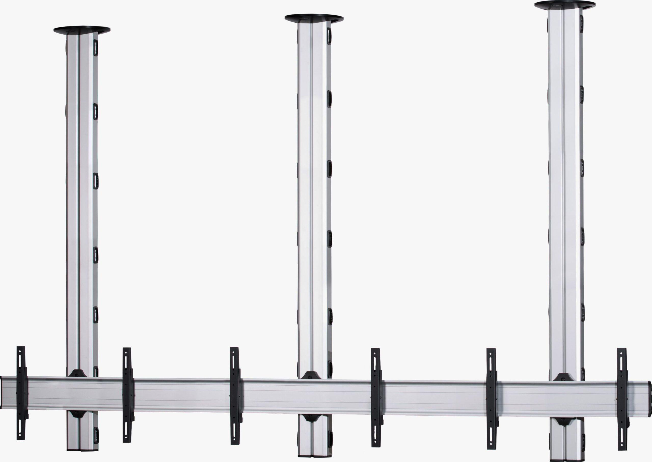 3 Displays 1×3, für große Bildschirme, Standard-VESA, zur Deckenbefestigung