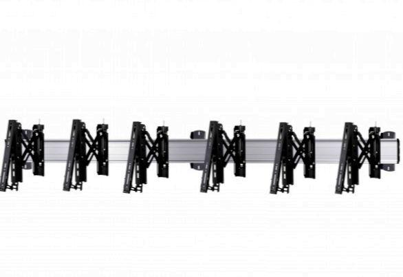 3 Displays 1×3, für große Bildschirme, Teleskop-VESA, zur Wandbefestigung