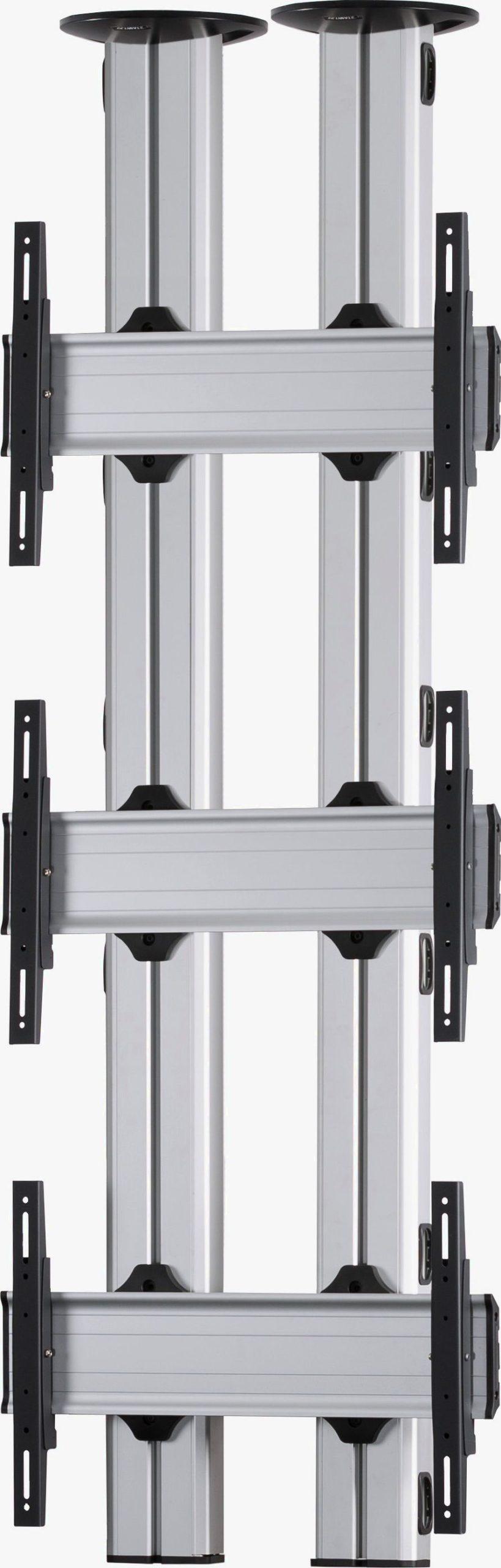 3 Displays 3×1, für große Bildschirme, Standard-VESA, zur Deckenbefestigung