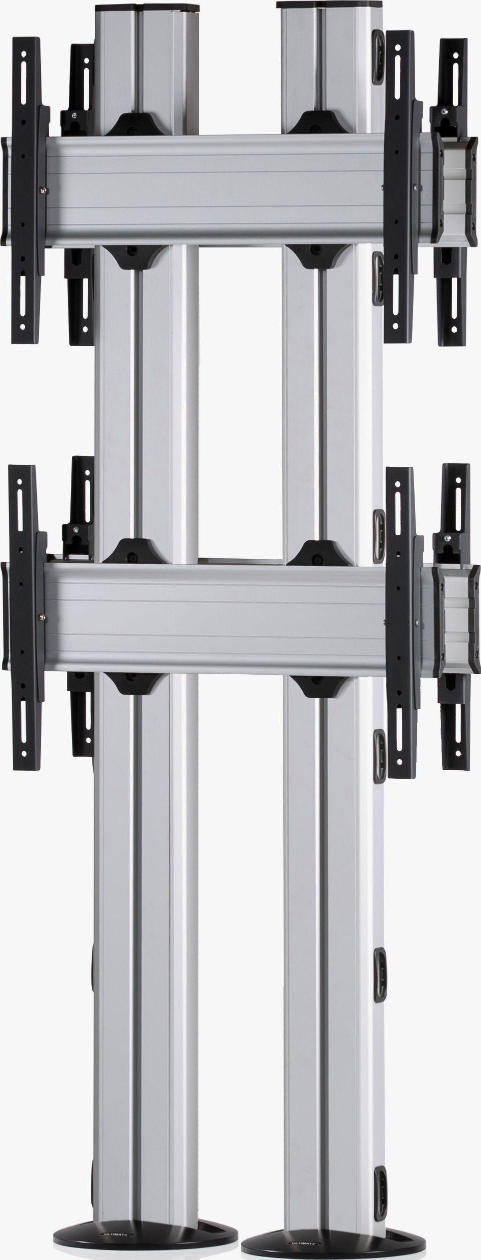 4 Displays 2×1 beidseitig, für große Bildschirme, Standard-VESA, zur Bodenbefestigung