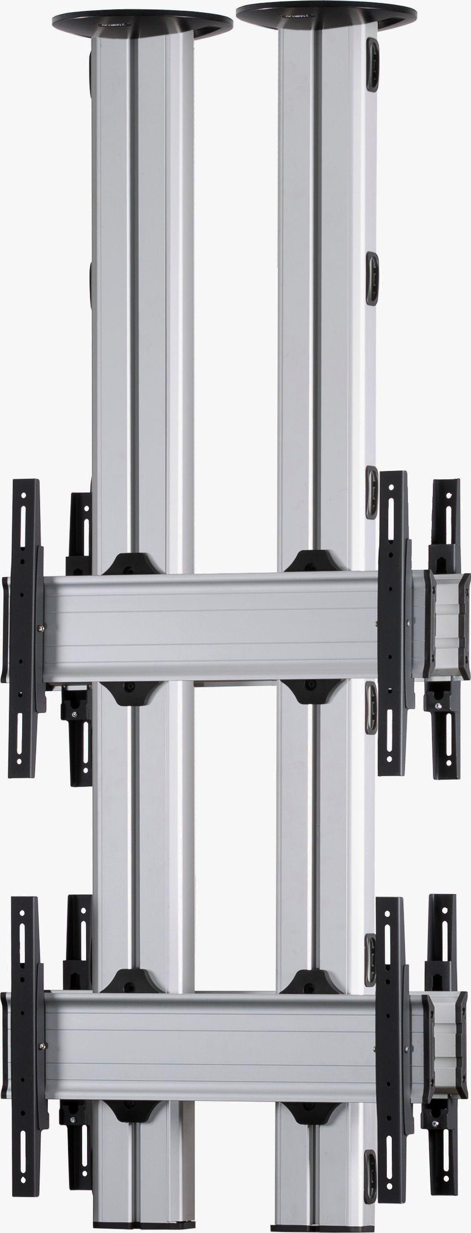 4 Displays 2x1 beidseitig, für große Bildschirme, Standard-VESA, zur Deckenbefestigung