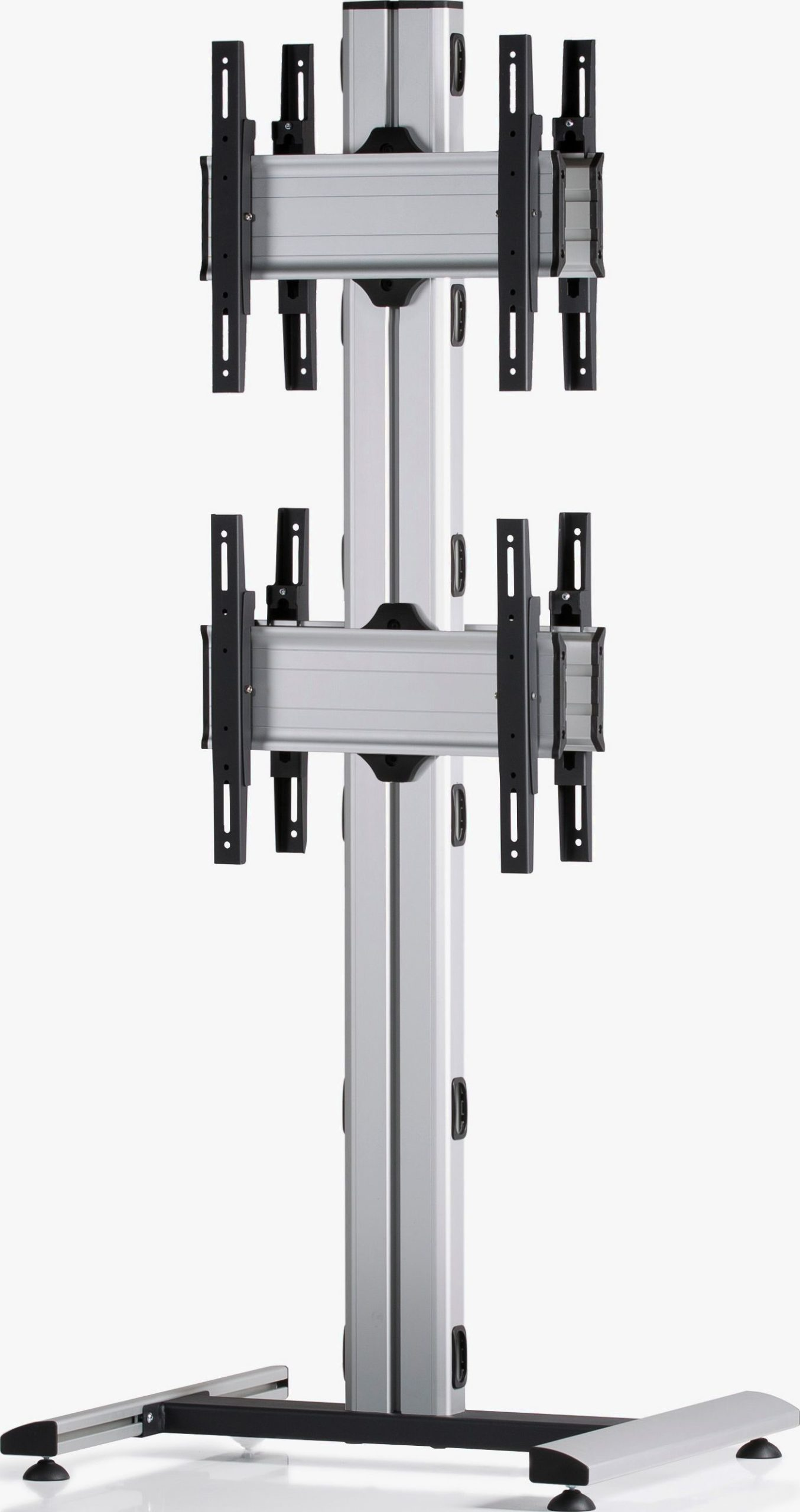 4 Displays 2x1 beidseitig, Standard-VESA, auf Standfuß