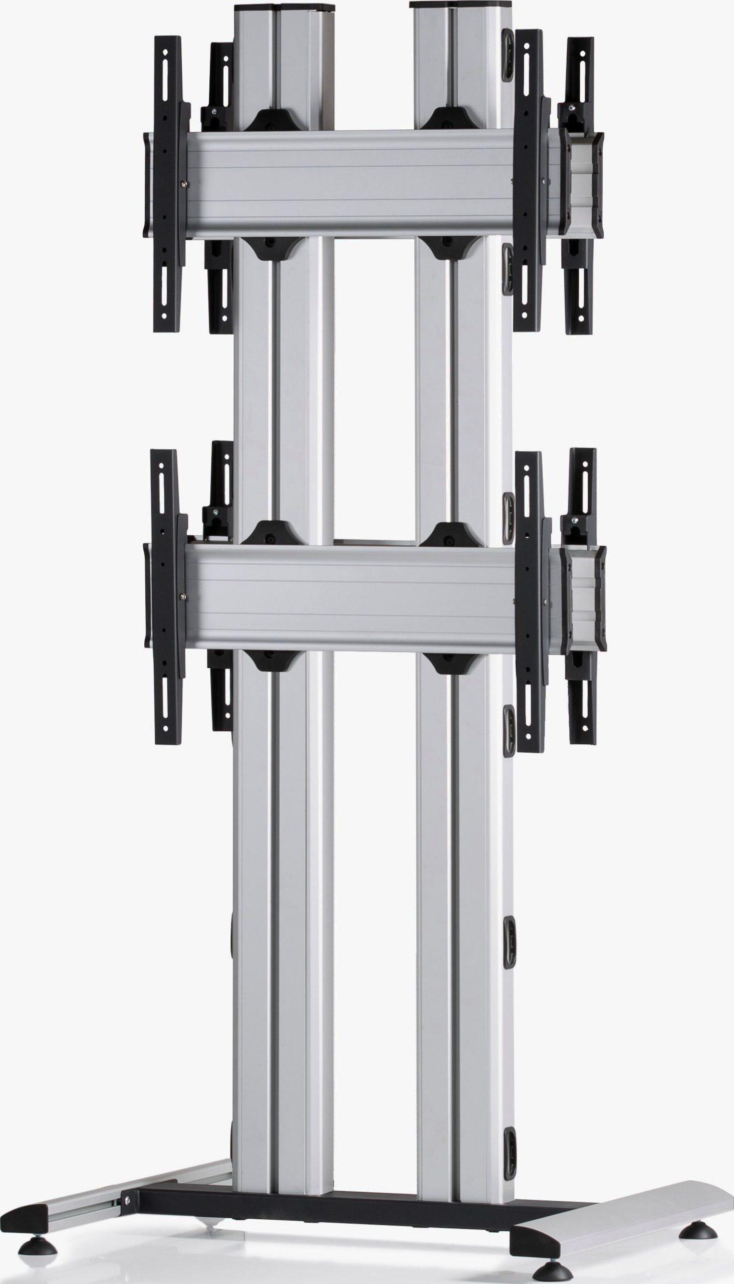 4 Displays 2x1 beidseitig, für große Bildschirme, Standard-VESA, auf Standfuß