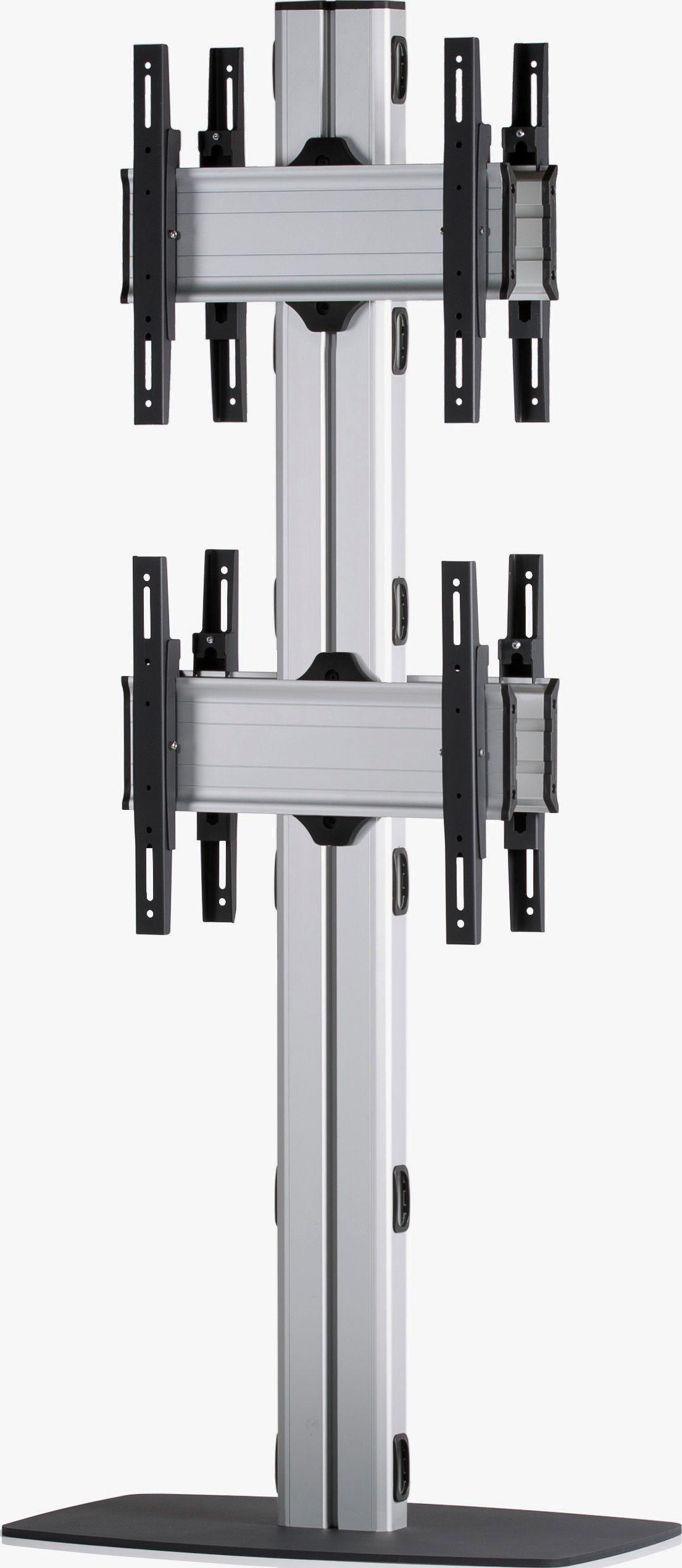 4 Displays 2x1 beidseitig, Standard-VESA, mit Standfuß