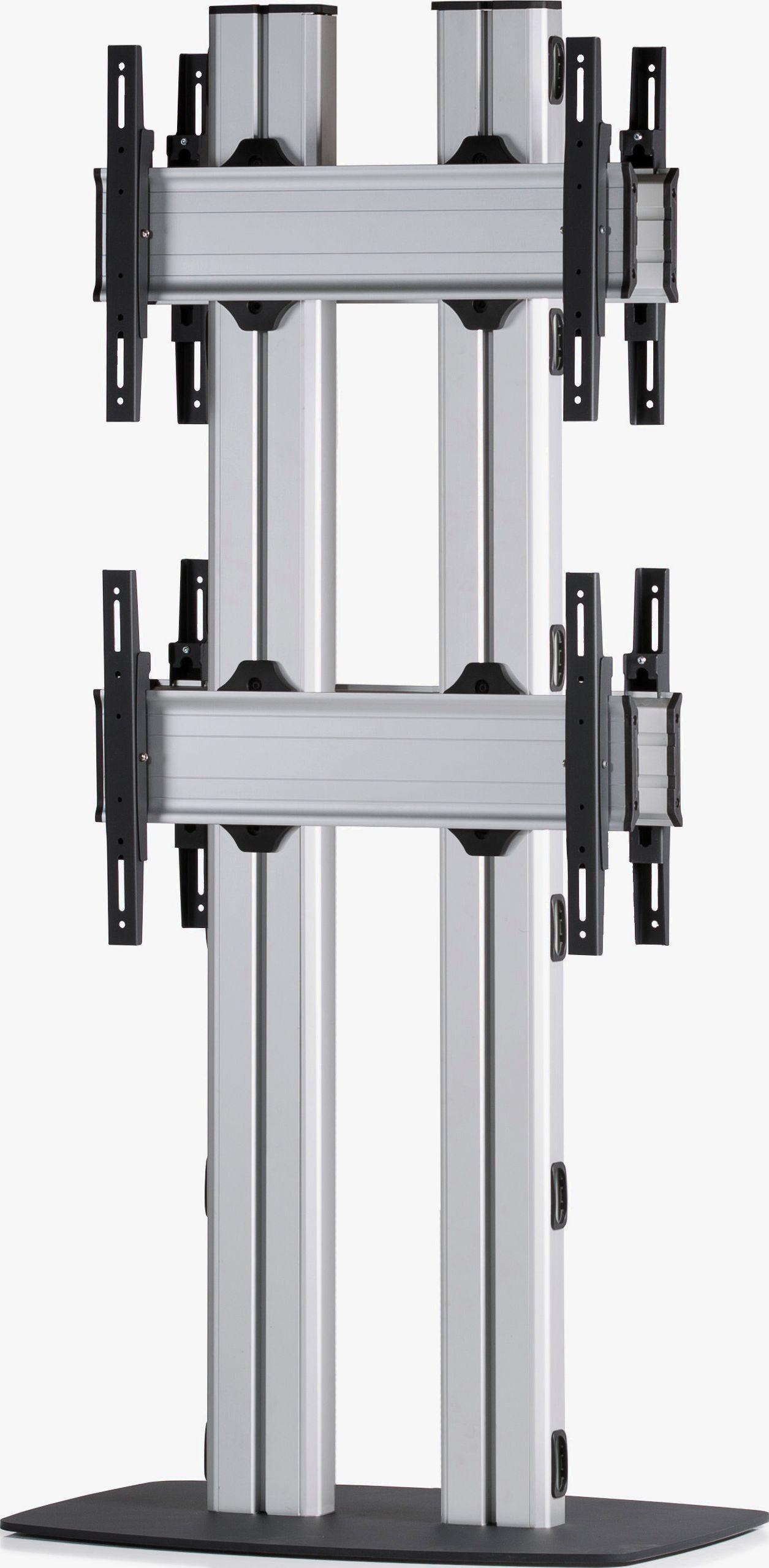 4 Displays 2x1 beidseitig, für große Bildschirme, Standard-VESA, mit Standfuß