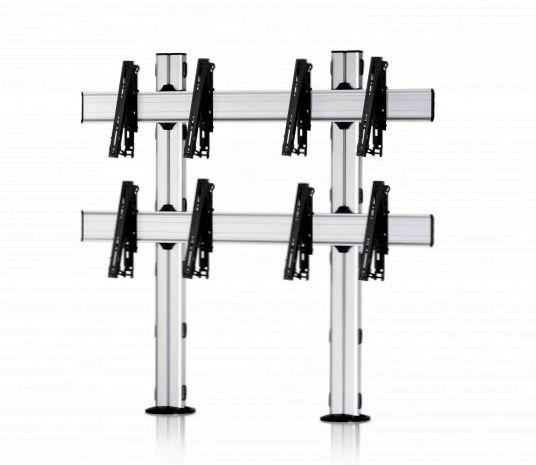 4 Displays 2×2, multifunktioneller VESA, zur Bodenbefestigung