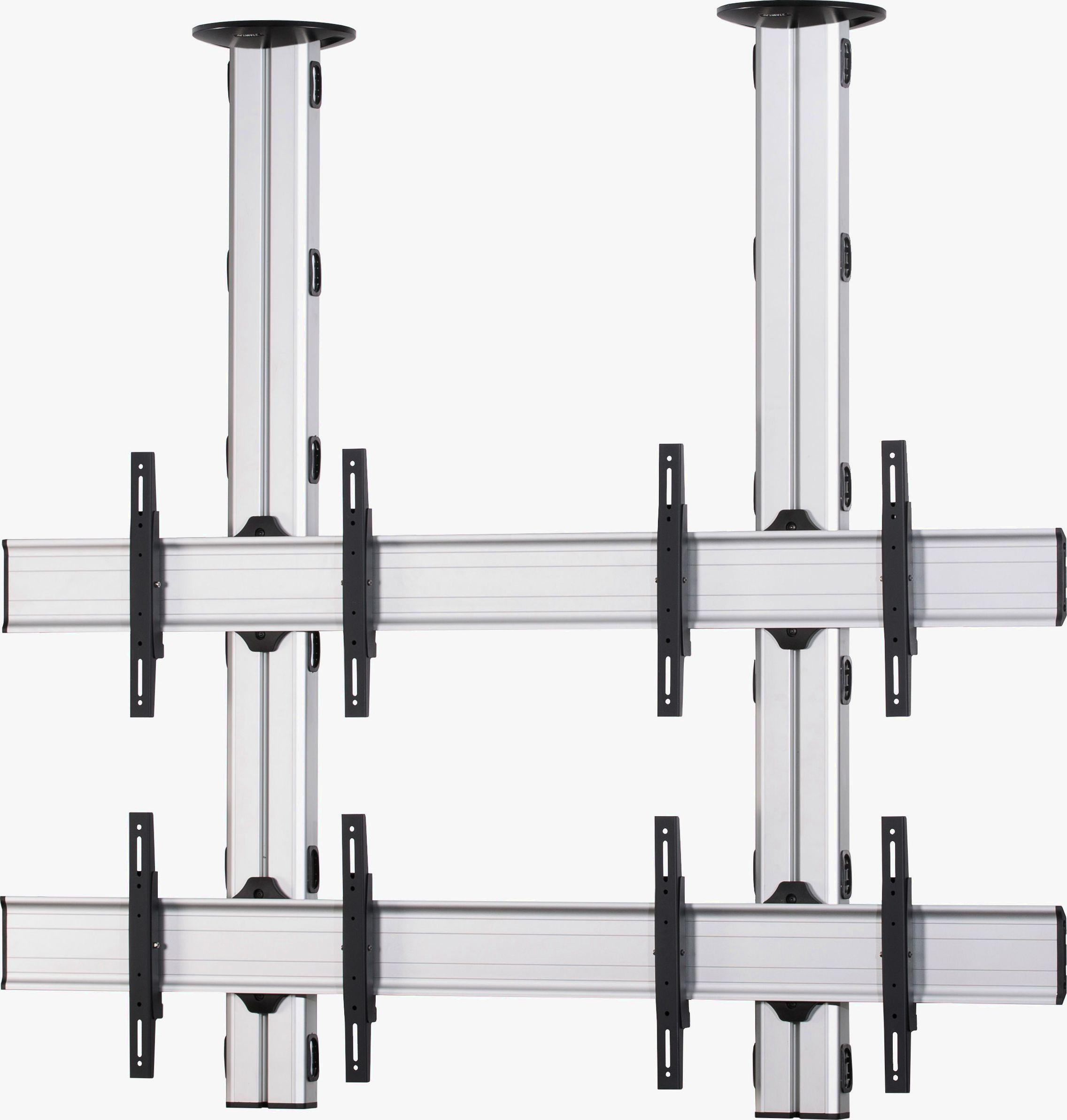 4 Displays 2×2, Standard-VESA, zur Deckenbefestigung