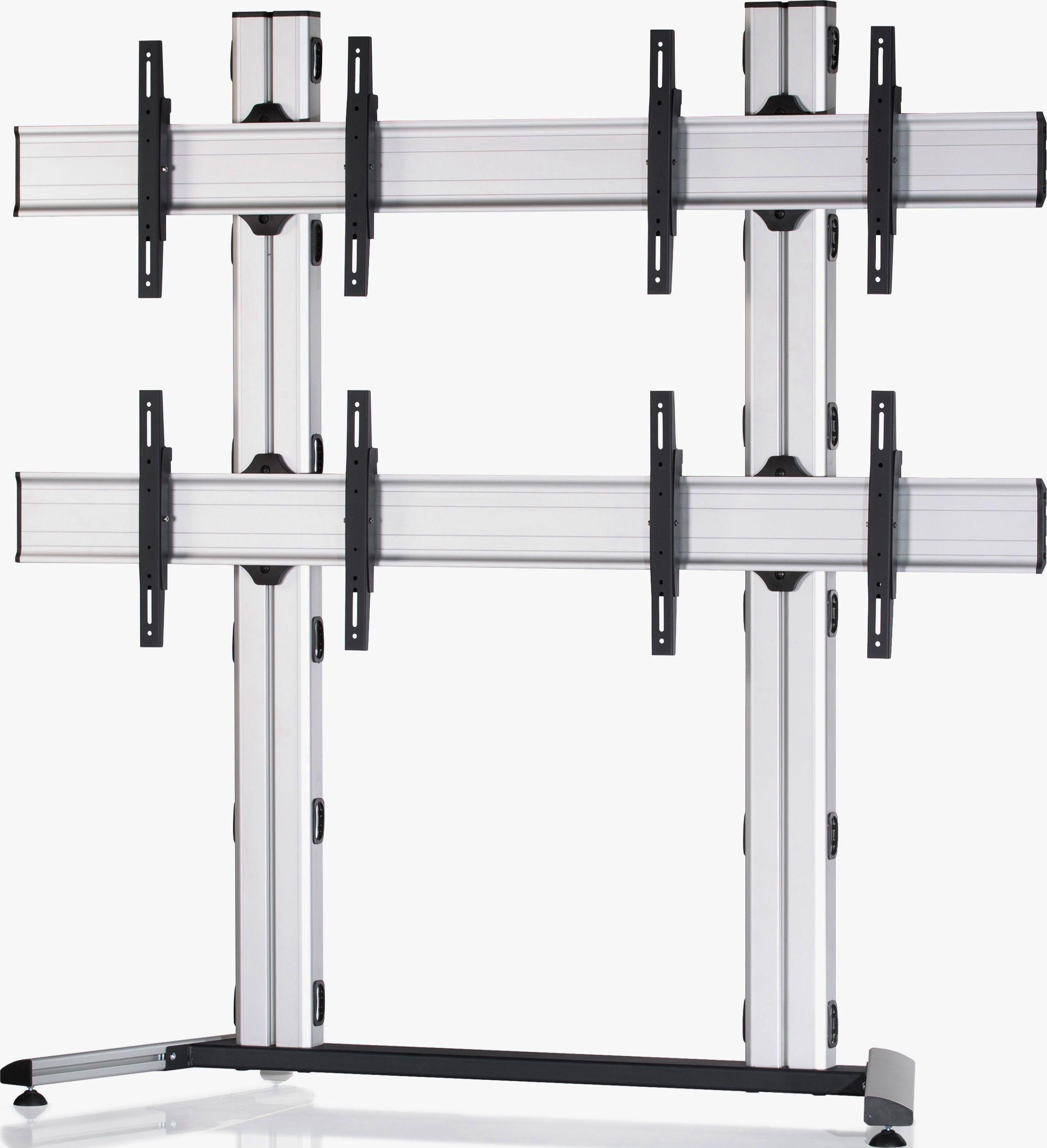 4 Displays 2x2, Standard-VESA, auf Standfuß