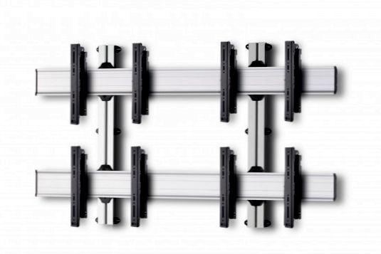 4 Displays 2×2, multifunktioneller VESA, zur Wandbefestigung
