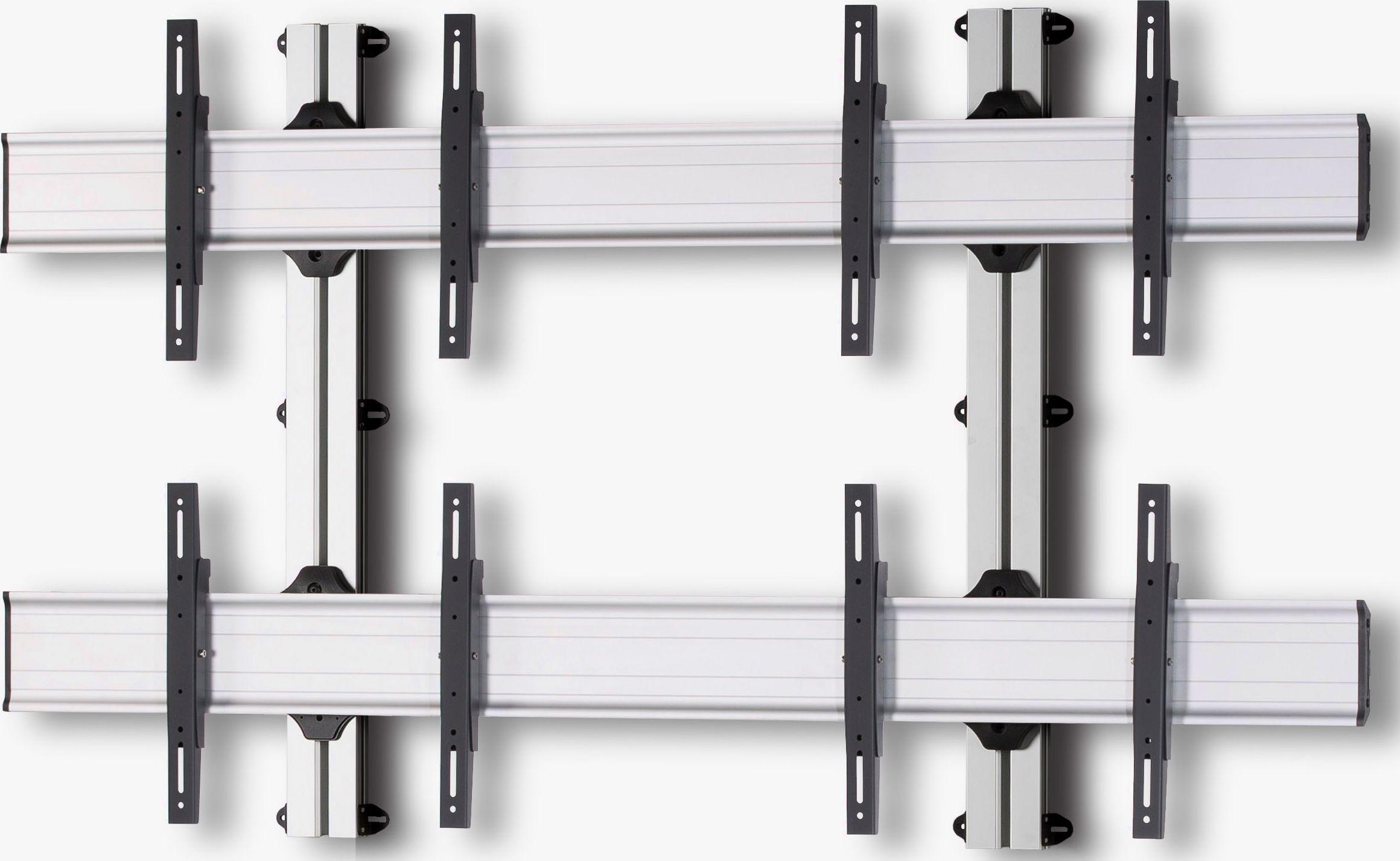 4 Displays 2×2, Standard-VESA, zur Wandbefestigung