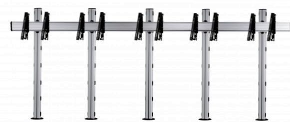 5 Displays 1x5, für große Bildschirme, multifunktioneller VESA, zur Bodenbefestigung