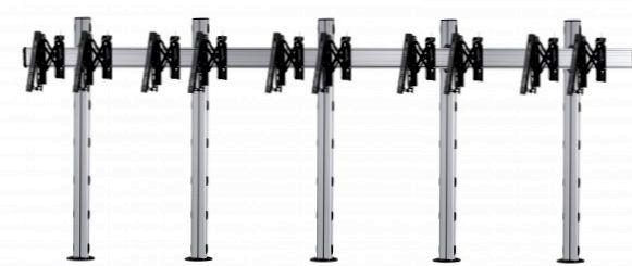 5 Displays 1x5, für große Bildschirme, Teleskop-VESA, zur Bodenbefestigung