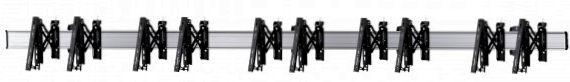 5 Displays 1x5, für große Bildschirme, Teleskop-VESA, zur Wandbefestigung