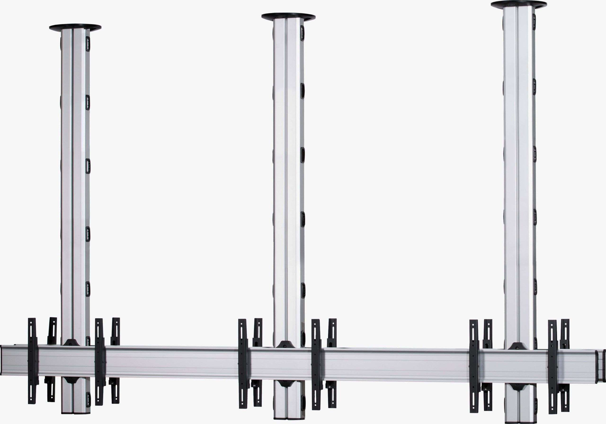 6 Displays 1x3 beidseitig, Standard-VESA, zur Deckenbefestigung